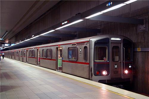 Los Angeles Metro Rail Red Line at Union Station